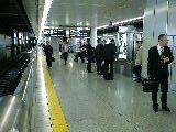 品川駅新幹線ホームの喫煙所@品川