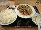ホルモン炒め定食「ジロー'sテーブル」@志村三丁目