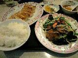 ニラレバ定食「餃子の王将」@瑞江