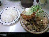 エビフライ+しょうが焼きライス「キッチン南海」@神保町