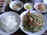 ニラレバ炒め定食「亀仙人」@新所沢